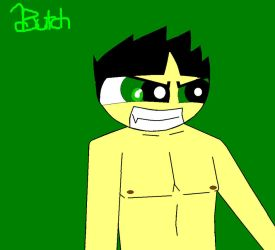 Painting of Butch with his shirt off by Butch829