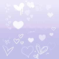 Heart Brushes For Photoshop by TutosLily