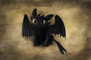 Baby Toothless by Ekira-Txonite