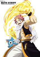 Fairy Tail PNG03 - Natsu Happy by guto-strife-1