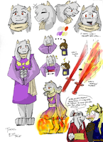 Toriel - ENDTALE (DETERMINATION) by imatrashcan2