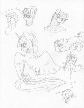 Twilight Sketch Dump by Sonic-Spatula