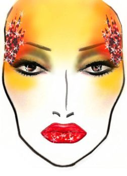 Phoenix Face Chart by CharismaCox