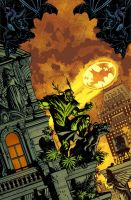 Swampthing cover 15, color by YanickPaquette