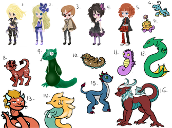 Open Adopts SALE!! (Dreamselfies are closed) by Starlight-Of-Arraya