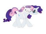 Vector Rarity and Sweetie Belle  Kyss.S by KyssS90