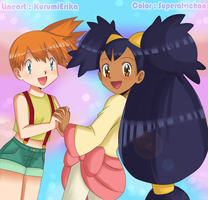 Misty and Iris _Collab by superalvichan