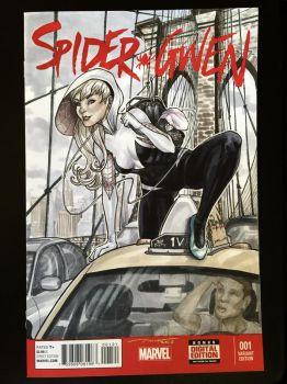 Spider-Gwen Sketch Cover Commission by BillDinh