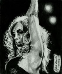 Lady Gaga- Graphite by AngelinaBenedetti