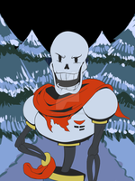 *Papyrus blocks the way! by deviousSprite