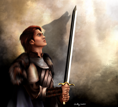 Robb Stark, King In The North by chillyravenart