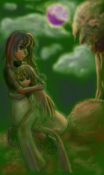 Patches and her sister by The-lost-otaku