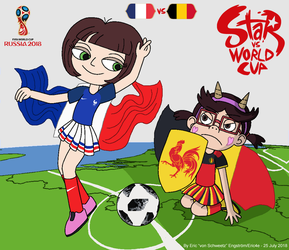 Star vs World Cup 2018: France vs Belgium by EricVonSchweetz