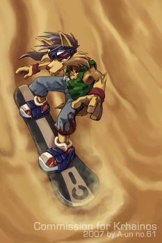 Sand Boarding by aun61