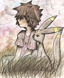 Shadowed Gary and Umbreon by Flylend