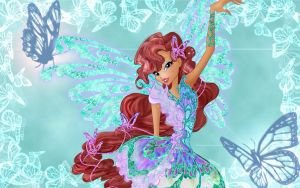 Winx Club Aisha Butterflix Wallpaper by TheMgic1275