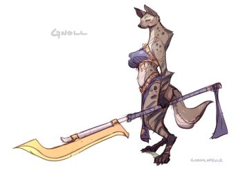 Gnoll concept for Sexena by CyanCapsule