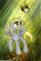 The attention span of a butterfly by FoxInShadow