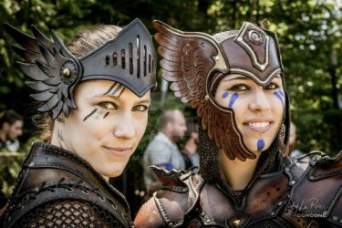 Valkyrie leather armor tiara by Lagueuse