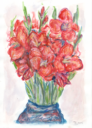 Red flowers by Tellaine