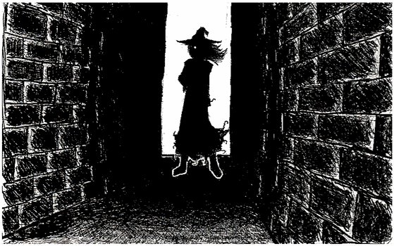 Alley Silhouette (another editing test) by TwistedGrimm