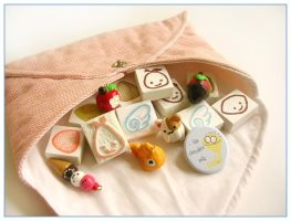 Stamp and charm swap package by restlesswillow