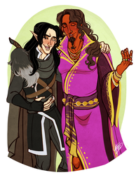Vax and Gilmore by naomimakesart