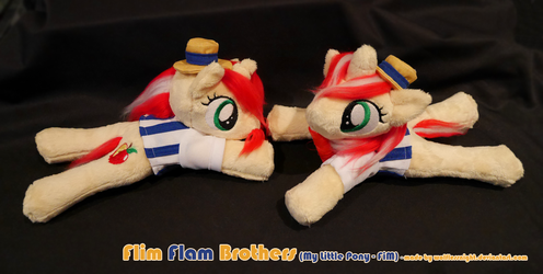 Flim Flam Brothers - Beanie Plushes by Wolflessnight