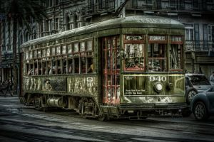 New Orleans Street Trolly by Wizardinc