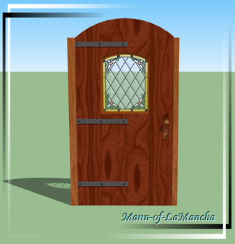 Gothic style arch door - WIP by Mann-of-LaMancha