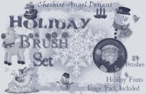 Holiday Brush Set by Cheshire-Angel