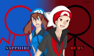 Ruby and Sapphire  -Hoenn by diverSEA