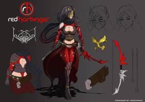 Red Harbinger Character Design by magion02