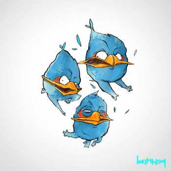 Angry Birds - BLUE by Minhky