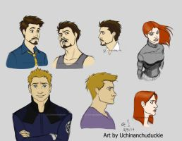 Kells' Tony, Clint, and Natasha - Recolored by UchinanchuDuckie