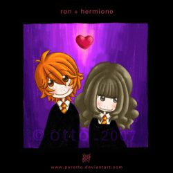 HP . Ron + Hermione by porotto