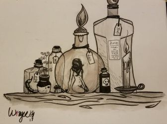 Inktober 3: Pick Your Poison by Squabblelobster