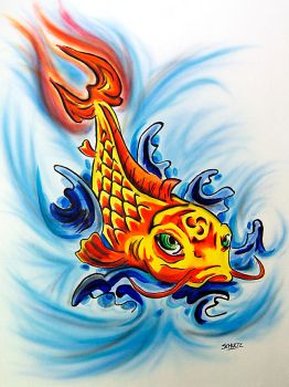 Koi Fish by dx