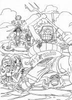 One Piece Fishin Lineart by l3xxybaby