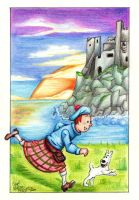 Tintin: The Black Island by PeaceMakerSama
