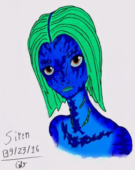 Siren Digital Head Sketch by AdventDestiny