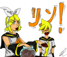 Kagamine Twins by Chyche