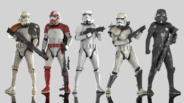 Stormtroopers by Yare-Yare-Dong