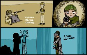 Weapons are for cowards by axeloil