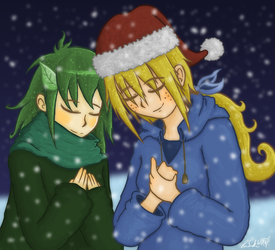 Ruth and Elly - Obligatory Xmas Pic by Wonchop