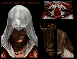 Ezio Auditore - Close up by WisesnailArt