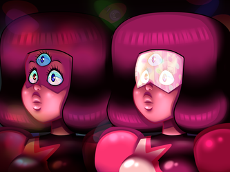 Garnet Entranced With and Without Shades by HeartStringsXIII