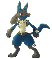 Lucario by HintoArt