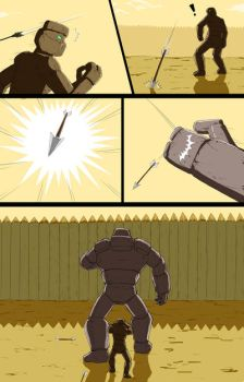 Mike into Golem TF Comic page 20 by whiteguardian