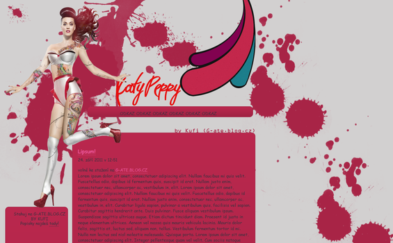 Layout with Katy Perry by kufigaga